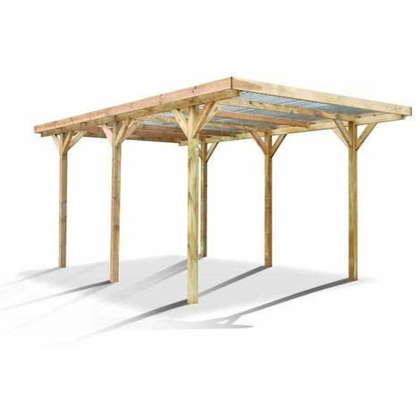 Cochera tejado policarbonato Max Forest