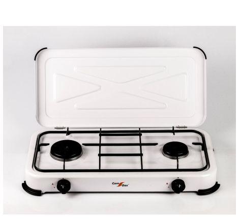 Cocina 2 fuegos con tapa. 2,5 Kw+1,2Kw. Uso exterior