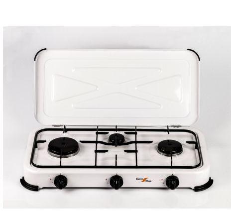Cocina 3 fuegos con tapa.2,2Kw +1,2Kw+0,85Kw. Uso exterior