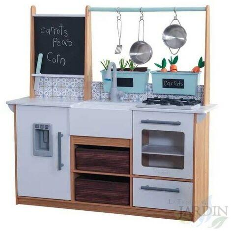 Cocina casa de campo de madera