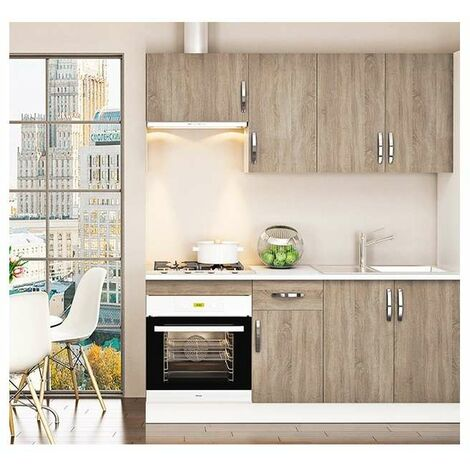 Cocina completa 180 cm color roble KIT-KIT