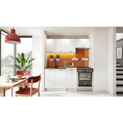 Cocina completa 180 cms color blanco, encimera y zocalos incluidos, ref-25a
