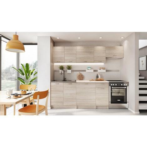 Cocina completa 180 y 240 cms color madera, encimera y zocalos incluidos, ref-30