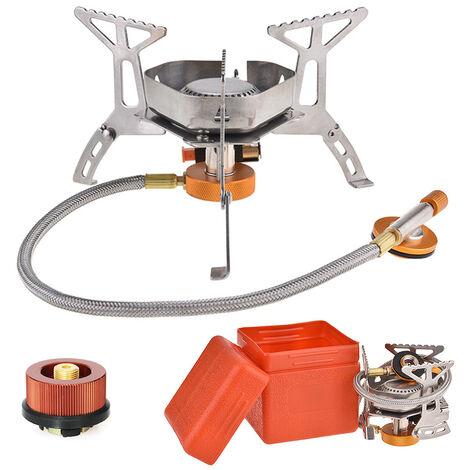 Cocina de gas portatil encendido piezoelectrico Estufa de Split horno de gas al aire libre estufa que acampa, AT6317