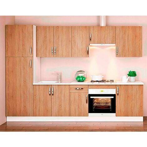 Cocina en kit Meka roble canbrian 300cm