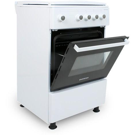 Cocina + Horno INFINITON CC53GBL - Blanco, 3 Fuegos, 52 litros, ancho 50cm, Quemador Wok