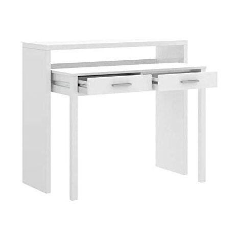 Cocina Mesa Extensible, Mesa Estudio Consola, Color Blanco ...