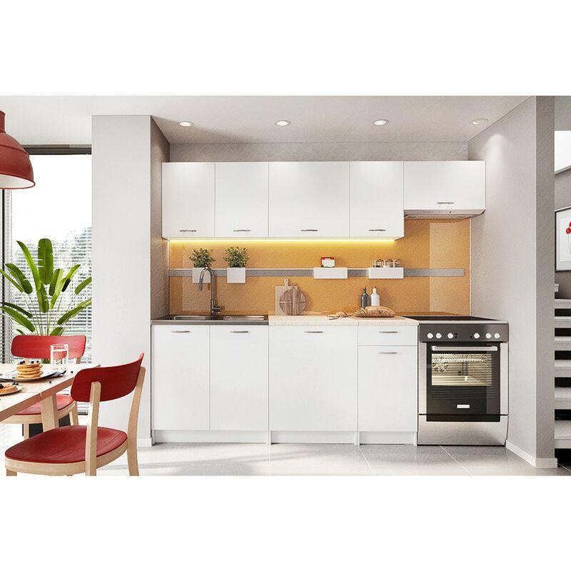 Cocina Modular – Mela 240 Cm Blanco