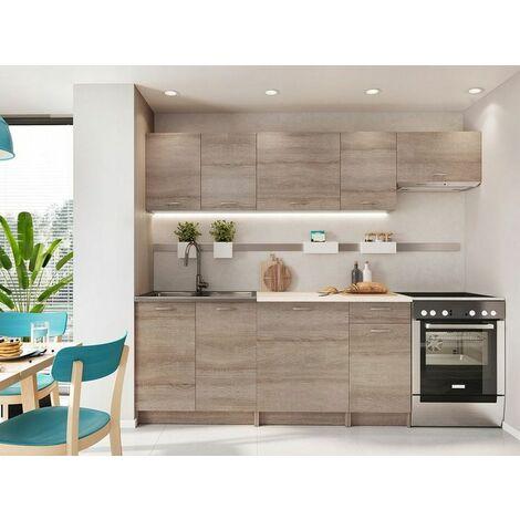 Cocina modular armin 300 cm marron pino armin3 for Cocinas alicante precios