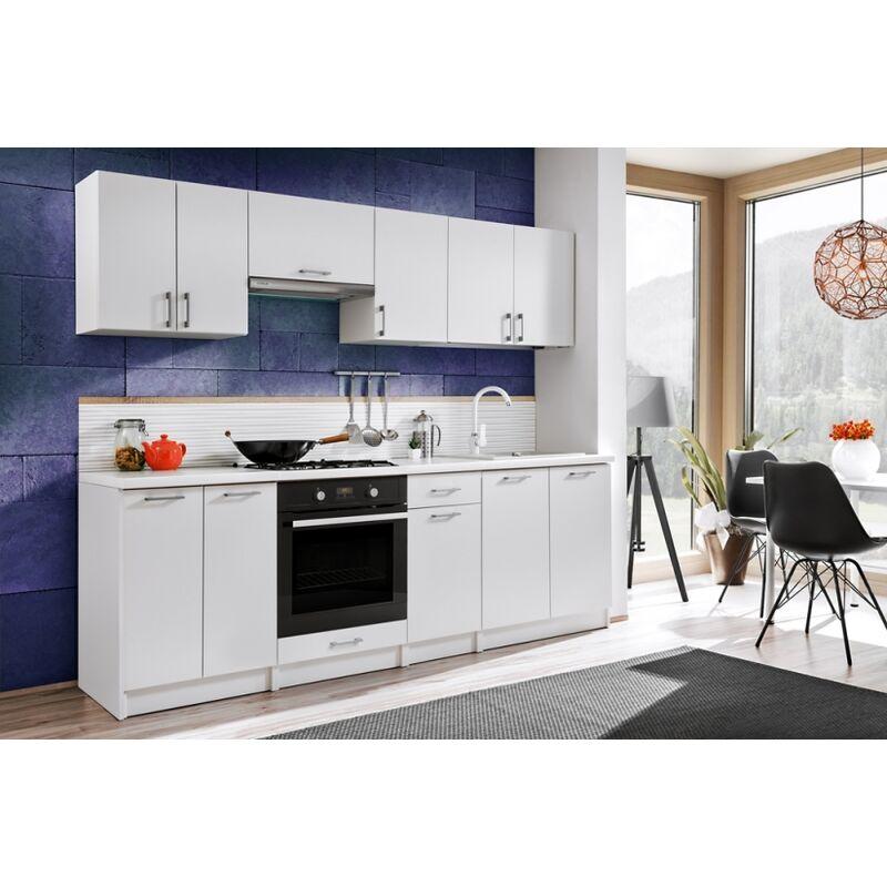 Cocina modular - BONA 240 CM BLANCO, sin encimera