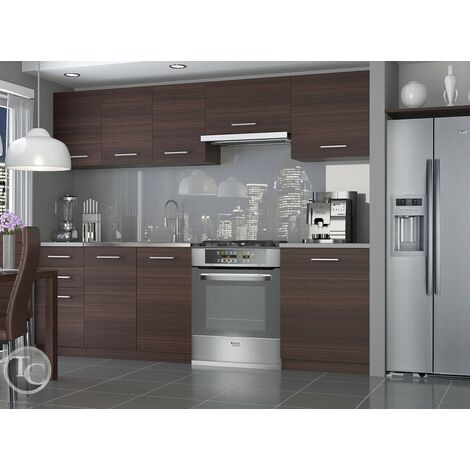 Cocina modular - ECONOMY 240 CM CASTAÑO