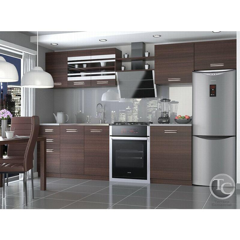 Cocina Modular - Ella 300 Cm Castaño