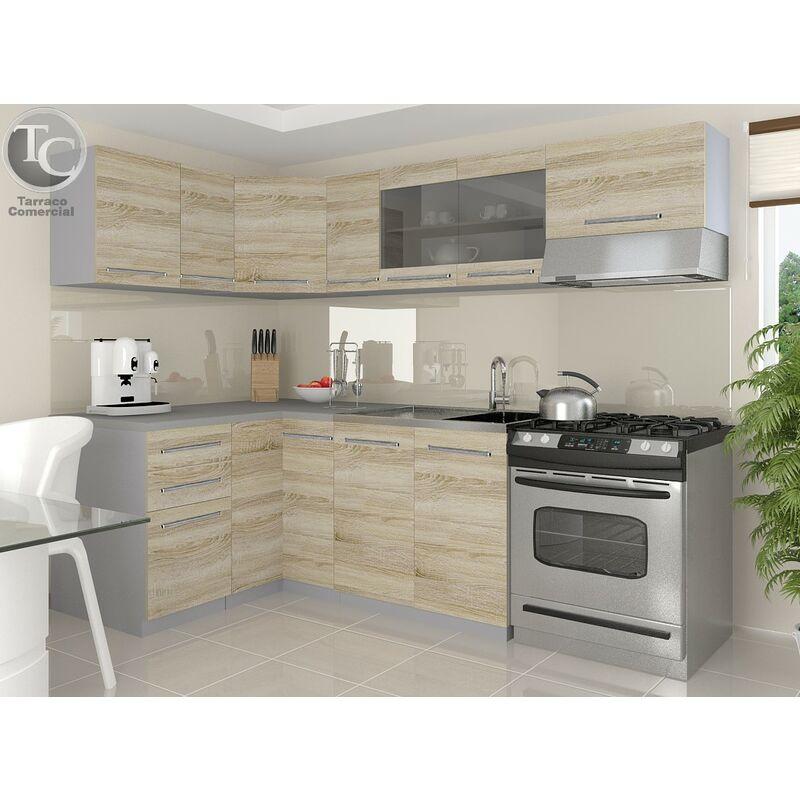 Cocina Modular - Lidia 360 Cm Sonoma