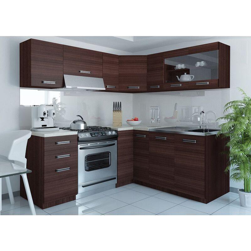 Cocina Modular - Lidia 360 Cm Castaño