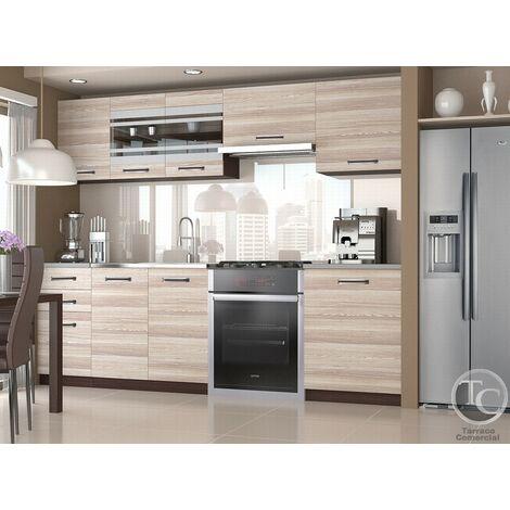 Cocina modular - MARIKA 240 CM ACACIA