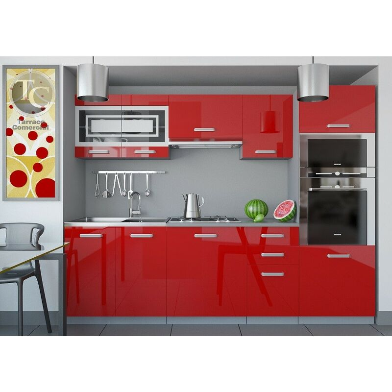 Cocina - Paula 240 Brillo Rojo