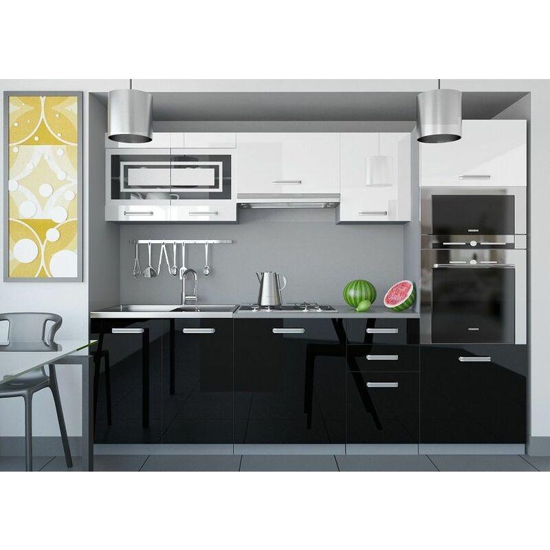 Cocina - Paula 240 Brillo Blanco/Negro