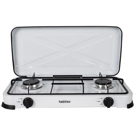 Cocina Portátil Gas 2 Fuegos Habitex