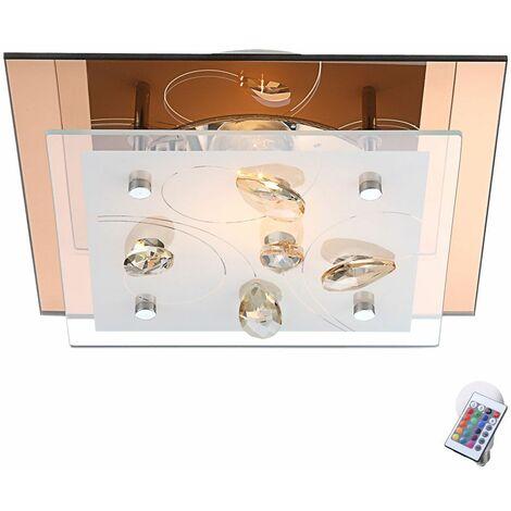 cocinas de lámparas de techo lámparas de cristal sala de estar a distancia ajustado incl. lámparas LED RGB