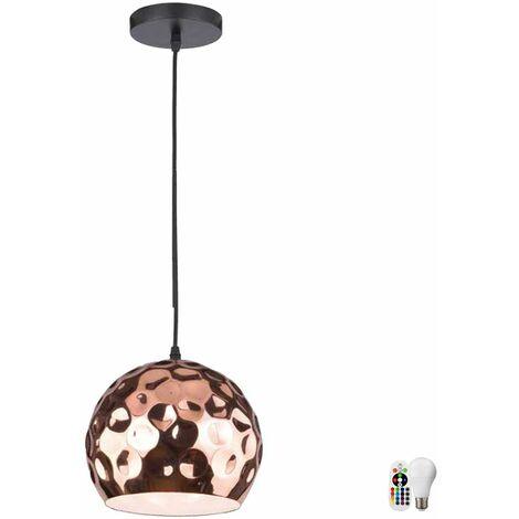 cocinas remoto de la lámpara del techo cuelgan Hammerschlag regulable lámpara incluidos en el conjunto. RGB lámparas LED