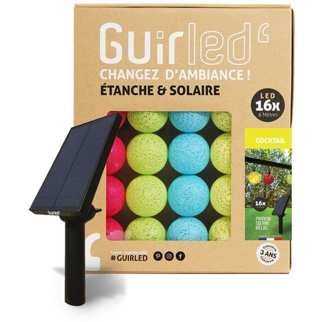 Cocktail Outdoor Guirlande lumineuse Guinguette Solaire boules LED