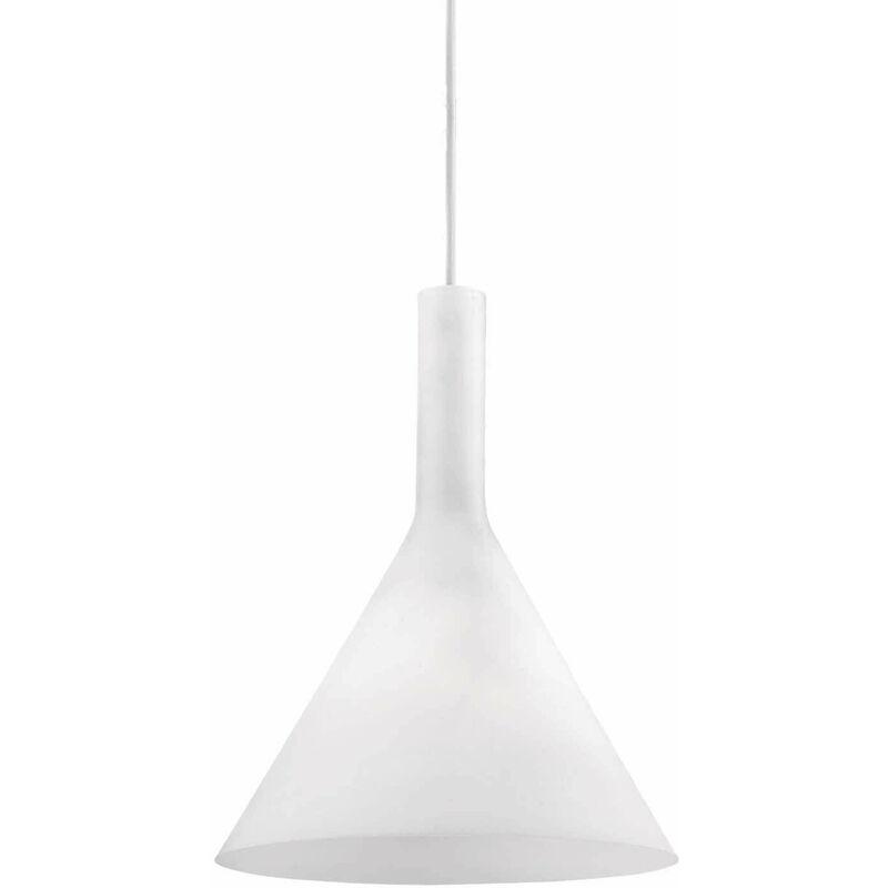 COCKTAIL weiße Pendelleuchte 1 Glühlampe Durchmesser 9 cm