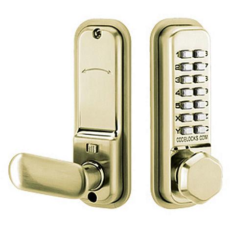 Codelocks CL255 Digital Combination Lock Brass - size - color