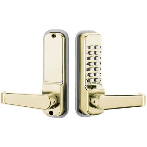 Codelocks CL410 Digital Code Lock Brass - size - color