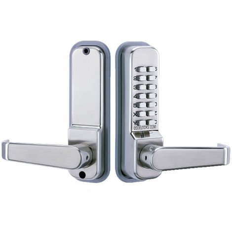Codelocks CL410 Digital Code Lock Stainless Steel - size - color