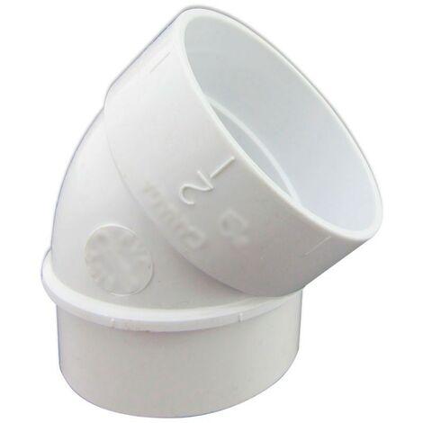 Codo 45º de PVC Conexión Macho - Hembra para Aspiración Centralizada