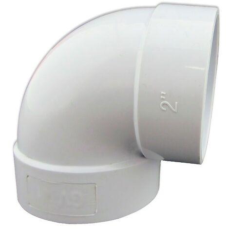 Codo 90º de PVC Conexión Hembra- Hembra para Aspiración Centralizada