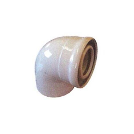 Codo Coaxial 87º Aluminio Blanco Diam. 60/100 Mm