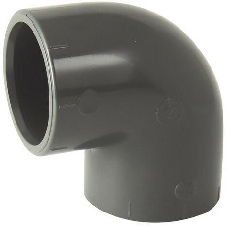 "main image of ""Coude 90° PVC pression à coller FF Codital Ø125 de Codital - Raccord PVC pression"""