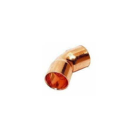 Codo de cobre para soldar 18X45º Hembra Hembra de Comap-Sudo