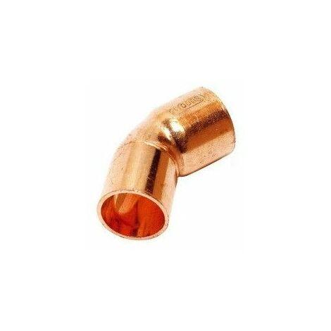 Codo de cobre para soldar 18X45º Macho Hembra de Comap-Sudo
