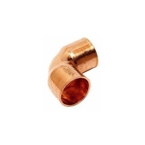 Codo de cobre para soldar 28X90º Hembra Hembra de Comap-Sudo