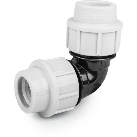 Codo de compresión 90° PN16 para tubos de PE de 25 mm (Juego de 2)