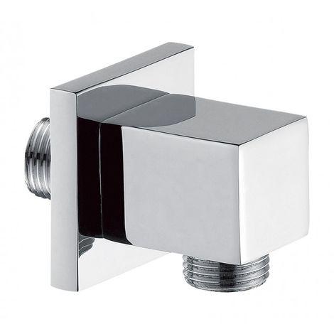 Codo de pared para flexo de ducha de alta calidad BA007 - diseño cuadrado