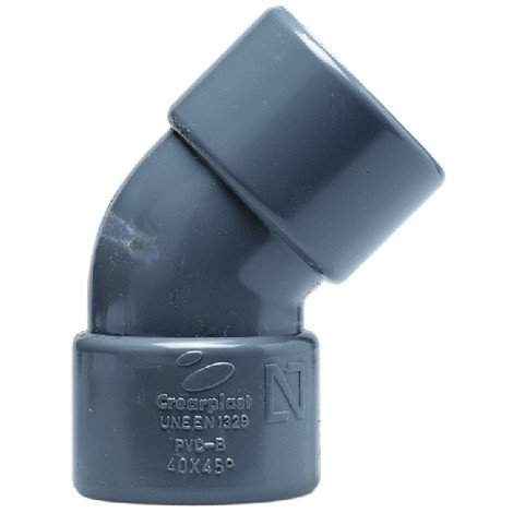 Codo de PVC gris de Crearplast