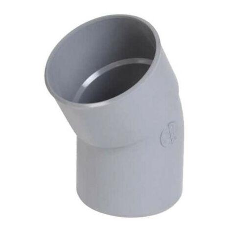Codo de PVC NICOLL - 30° - Diámetro 100 - Macho hembra - para encolar - 57061Y