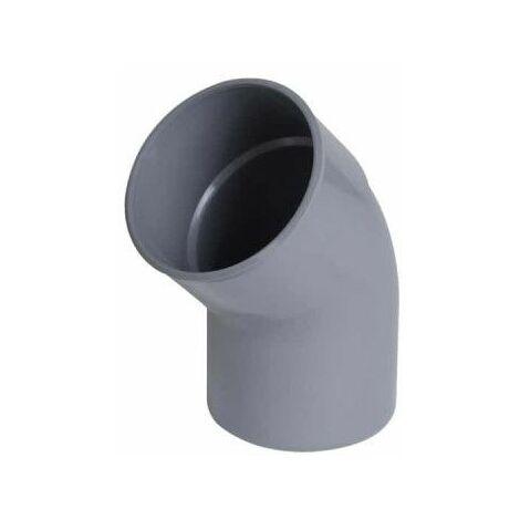 Codo de PVC NICOLL - 45° - Diámetro 40 - Hembra macho - para encolar - 57005M
