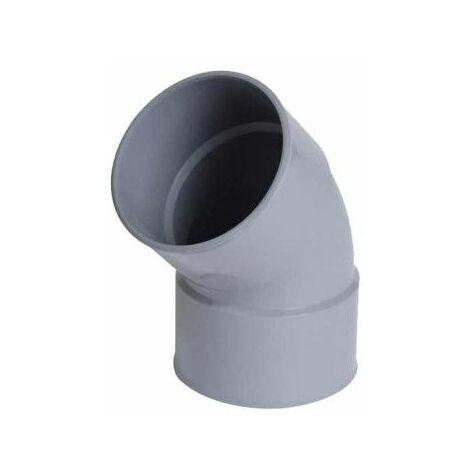 Codo de PVC NICOLL - 45° - Diámetro 50 - Hembra-hembra - para encolar - 57380U