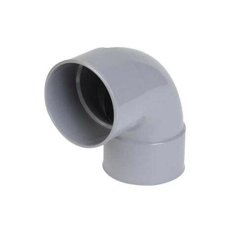 Codo de PVC NICOLL - 67°30 - Diámetro 100 - Hembra-hembra - para encolar - 57439J