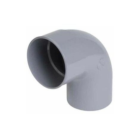 Codo de PVC NICOLL - 87°30 - Diámetro 100 - Macho hembra - para encolar -57089D