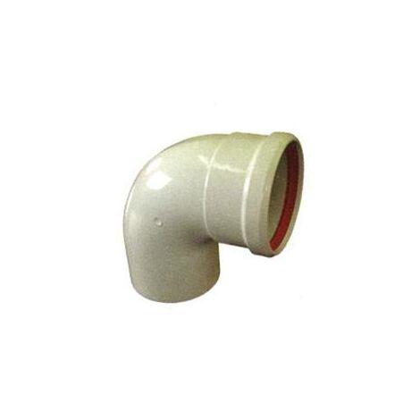 Codo Estanco 87º Aluminio Blanco Diam. 110 Mm