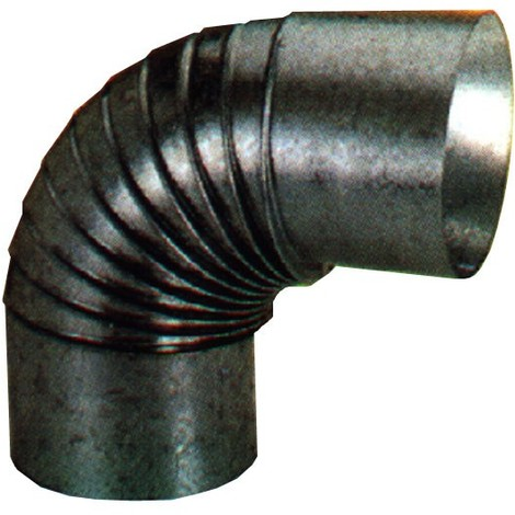 Codo Estufa Galvanizado 90º - EXOJO - 851000 - 100 MM