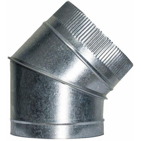 Codo Estufa Galvanizado de 200 mm. 45° (0,8 mm.)