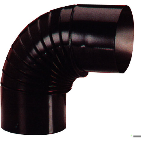 Codo Estufa Vitrif Negro 90º - EXOJO - CV15090 - 150 MM