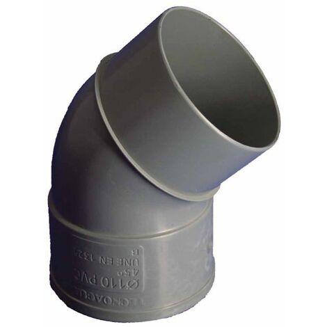 Codo Evac M-h 45§ 075mmØ Pvc Hidrot