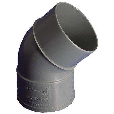 CODO EVAC M-H 45º 110MMØ PVC HIDROT